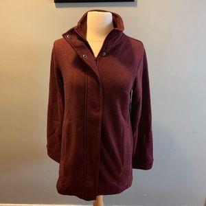 NWT Lands End fleece sweater coat